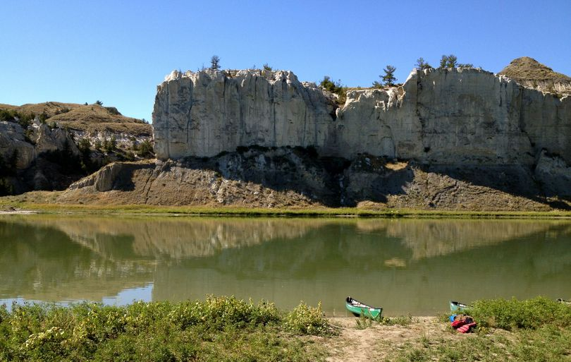 Canoeing the White Cliffs stretch of the Missouri River Breaks National Monument is a popular September activity. (Cheryl-Anne Millsap / Photo by Cheryl-Anne Millsap)
