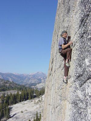 Fred Beckey iclimbing n Yosemite National Park. (Fred Beckey photo)