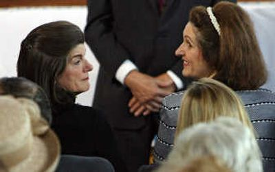 Sisters Luci Baines Johnson, left, and Lynda Robb attend a family funeral service for their mother, former first lady Lady Bird Johnson on Friday in Austin, Texas. Associated Press  (Associated Press / The Spokesman-Review)