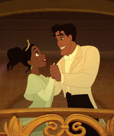 """Princess Tiana, voiced by Anika Noni Rose, left, and Prince Naveen, voiced by Bruno Campos, are shown in a scene from the animated film, """"The Princess and the Frog.""""Disney (Disney)"""