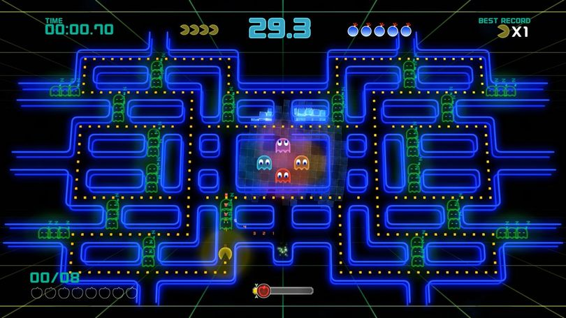 PAC-MAN Championship Edition 2 makes several revisions to the classic gameplay of the series to make the game more palatable to modern audiences. (Bandai Namco)