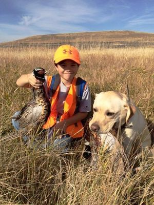 Tomas Estuar, 11, his father Robert and the family's yellow Lab, Bella, had a successful opening weekend of the Eastern Washington pheasant season as they hunted pen-raised roosters at the Fishtrap Lake pheasant release area. (courtesy)
