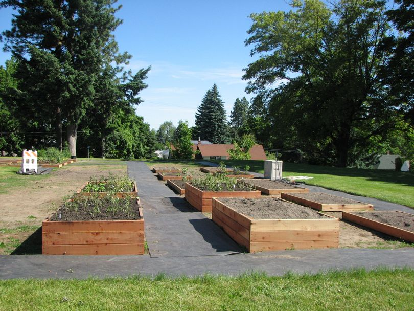 The Grant Park Community Garden located just west of Grant Elementary School in Grant Park. (Pia Hallenberg)