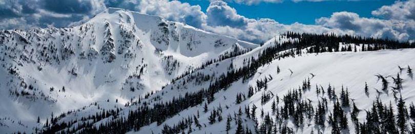 Backcountry skiers enjoy the Stevens Peak area near Lookout Pass in mid April, 2011 (Bob Drzymkowski )