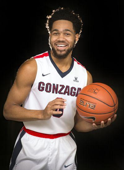 Gonzaga sophomore guard Silas Melson. (Colin Mulvany / The Spokesman-Review)