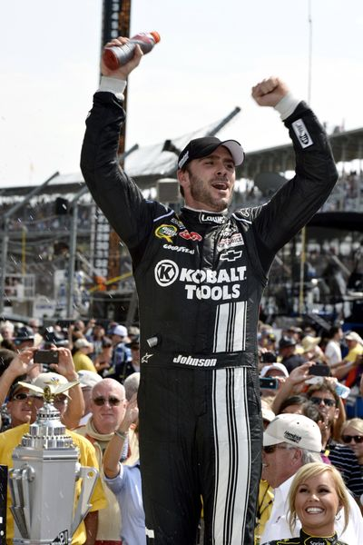 Jimmie Johnson won his fourth Brickyard 400 title Sunday in Indianapolis.