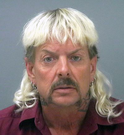 """A federal appeals court ruled Wednesday that """"Tiger King"""" Joe Exotic, shown here in the Santa Rosa County Jail, should get a shorter prison sentence for his role in a murder-for-hire plot and violating federal wildlife laws.  (Santa Rosa County Jail)"""