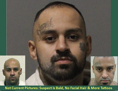 Suspect Julian A. Hernandez is still at large and is considered armed and dangerous.  (Spokane Valley Police Department)