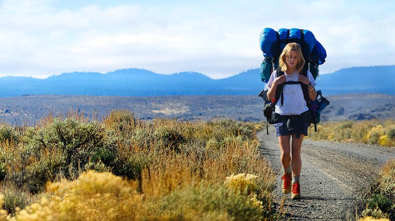 Reese Witherspoon stars in the movie Wild, depicting a woman trying to find herself by hiking the Pacific Crest Trail.