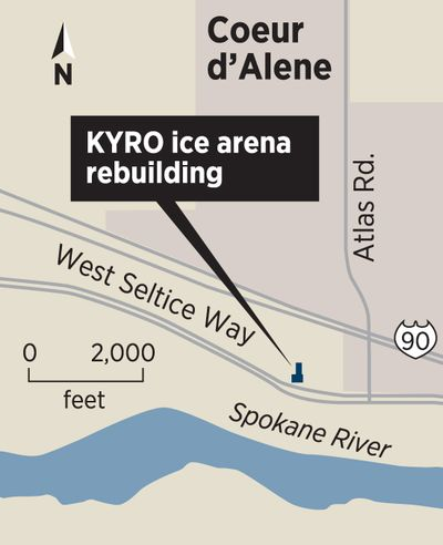 Destroyed ice rink to rise again in Kootenai County. Aug. 1 opening planned for North Idaho facility. (Molly Quinn / mollyq@spokesman.com)