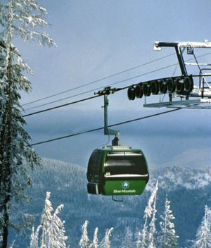 Silver Mountain visitors ride a gondola from Kellogg to the top of the mountain. (The Spokesman-Review)