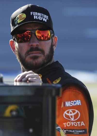Martin Truex Jr. has the pole position for Sunday's Sprint Cup race at Talladega, Ala. (Rainier Ehrhardt / Associated Press)