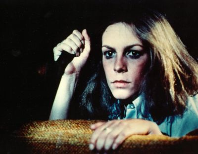 """Jamie Lee Curtis in a scene from the 1978 horror classic """"Halloween,"""" directed by John Carpenter."""