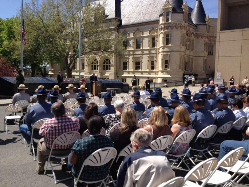 A scene from today's law enforcement memorial. (Spokane Police Department)