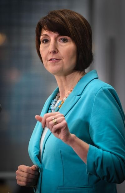Cathy McMorris Rodgers at Spokane City Hall, on Friday, Jan. 18, 2019. (Dan Pelle / The Spokesman-Review)