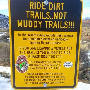 Mountain biking on soft, wet trails land leave dangerous conditions for riders who follow when the surface hardens. (Courtesy)