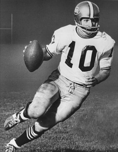 Former Allegheny College quarterback Mike Ganey was honored for the second time by the school's athletic hall of fame  earlier this month. (Allegheny College / Courtesy)