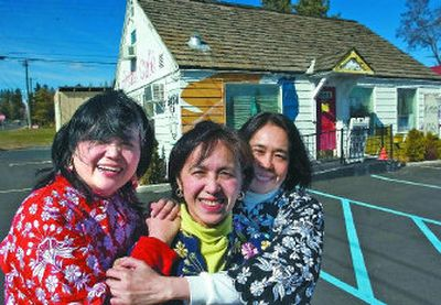 From left, Amor Canaday, Mila Villa and Josie de Guzman are three sisters who operate the Artist Cafe in Cheney. They specialize in Filipino cuisine.   (Photos by Christopher Anderson / The Spokesman-Review)
