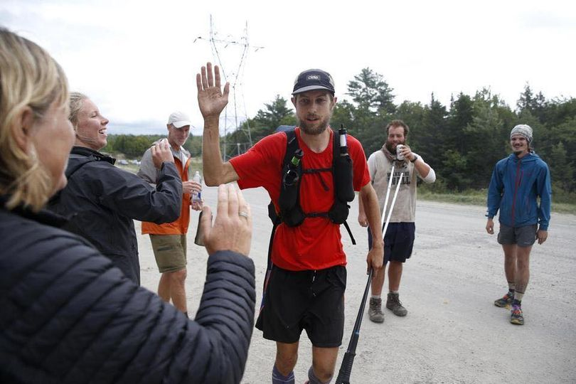 Joe McConaughy set a speed record for the fastest unassisted time for hiking the Appalachian Trail on Aug. 31, 2017. (From Facebook)