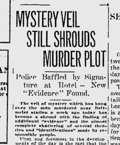 Authorities were baffled by evidence in the killing of a man found dead in a chicken house outside of Cheney in November 1920.  (S-R archives)