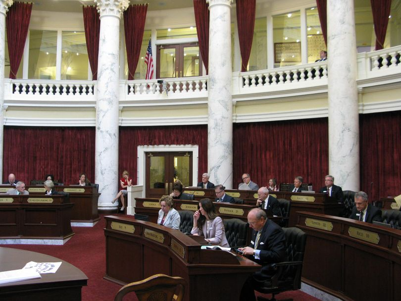 Senators wrap up votes on amendments to HB 312, the House-passed transportation funding bill, on Tuesday (Betsy Russell)