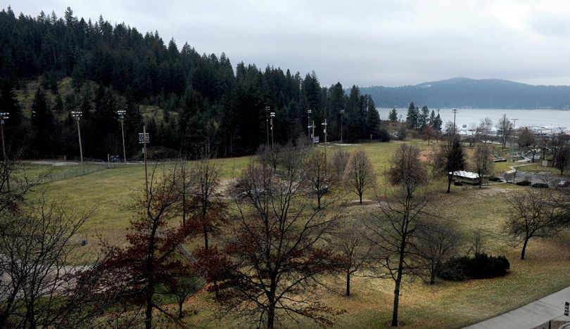 McEuen Field photographed from Parkside Towers on Feb. 4, 2011. Proposed plans for McEuen include removing the baseball fields and closing the Third Street boat ramp.  (Kathy Plonka)