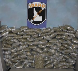 Idaho State Police seized about 120 pounds of marijuana Thursday, Dec. 13, 2012 from a vehicle traveling east on Interstate 90 in Shoshone County. (Idaho State Police)