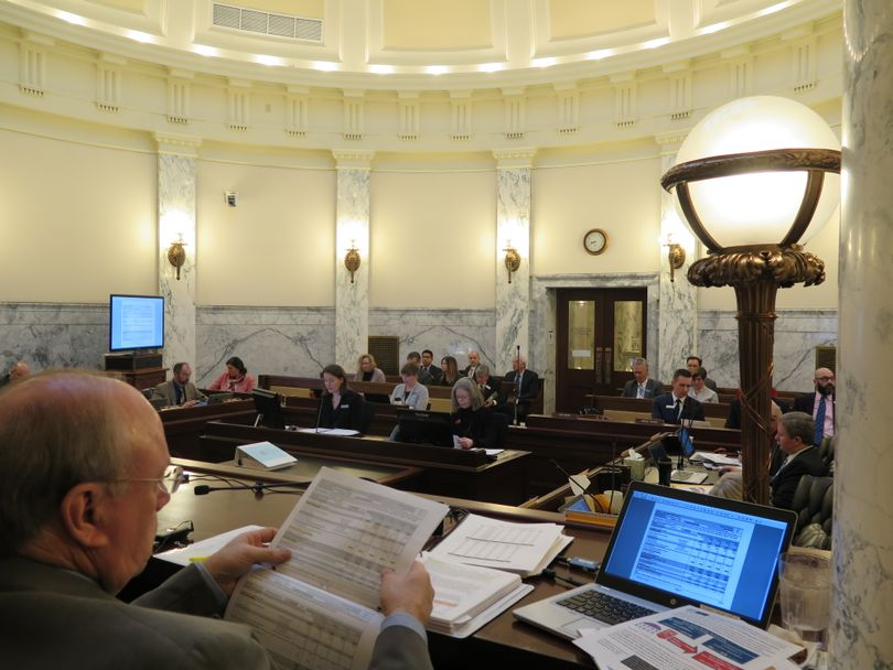 The Idaho Legislature's joint budget committee holds a budget hearing on the Idaho Commission for Libraries on Tuesday, Jan. 16, 2018. (Betsy Z. Russell)