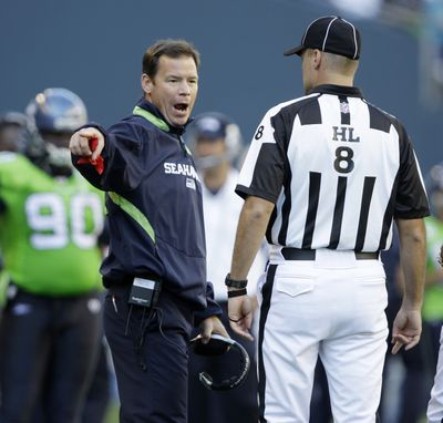 Seahawks coach Jim Mora has softened his stance on the performance of his kicker in Sunday's loss.  (Associated Press / The Spokesman-Review)