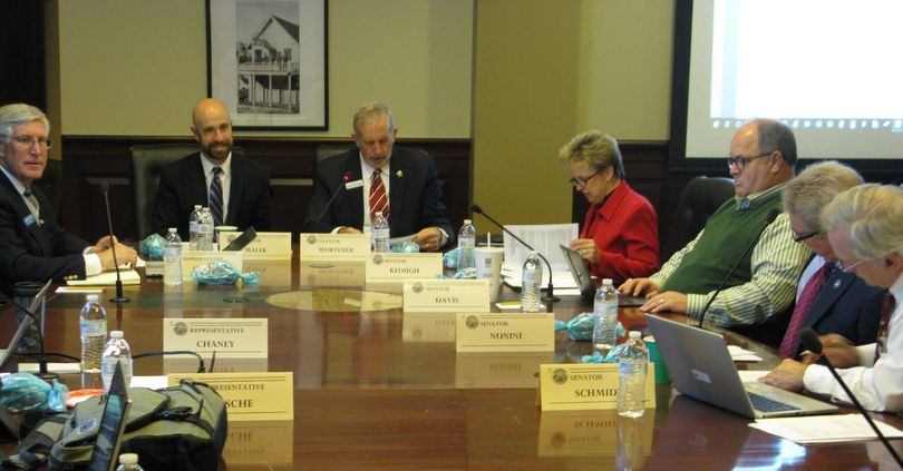 Idaho Legislature's Broadband Access Study Committee convenes at the state Capitol on Monday morning (Betsy Z. Russell)