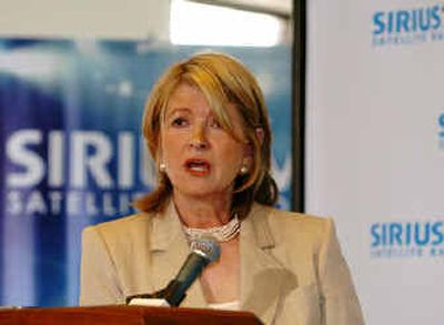Martha Stewart Living Omnimedia and Sirius Satellite Radio recently announced an exclusive four-year deal to create a Martha Stewart channel providing original programming for women .   (Associated Press / The Spokesman-Review)