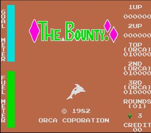 The Bounty was the third of 14 cabinets produced by short-lived arcade game-maker the Orca Corporation in 1982.