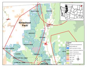 Range of the Smackout Wolf Pack in Washington's Stevens County. (Washington Department of Fish and Wildlife)