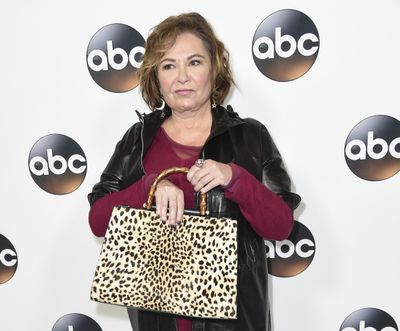 """FILE - In this Jan. 8, 2018 file photo, Roseanne Barr attends the ABC All-Star Party  during the Disney/ABC Television Critics Association Winter Press Tour on Jan. 8, 2018, in Pasadena, Calif. Barr is blaming a racist tweet that got her hit show canceled on the insomnia medication Ambien, prompting its maker to respond that """"racism is not a known side effect."""" (Richard Shotwell / Richard Shotwell/Invision/AP)"""