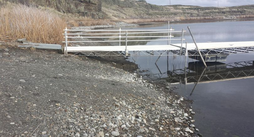 Coffeepot Lake boat launch was closed in February 2015 because of low water.  (U.S. Bureau of Land Management)