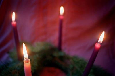 Among the many family Christmas traditions: Lighting candles on an Advent wreath.  (File / The Spokesman-Review)