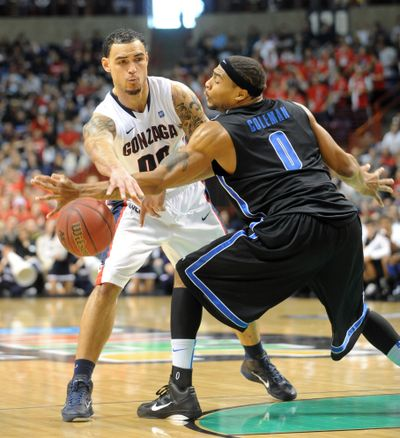 Center Robert Sacre said Gonzaga knows the importance of a high seed at the WCC tournament. (Jesse Tinsley)