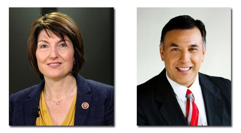 Joe Pakootas (right) is challenging Cathy McMorris-Rodgers for the 5th Congressional District seat. (The Spokesman-Review)