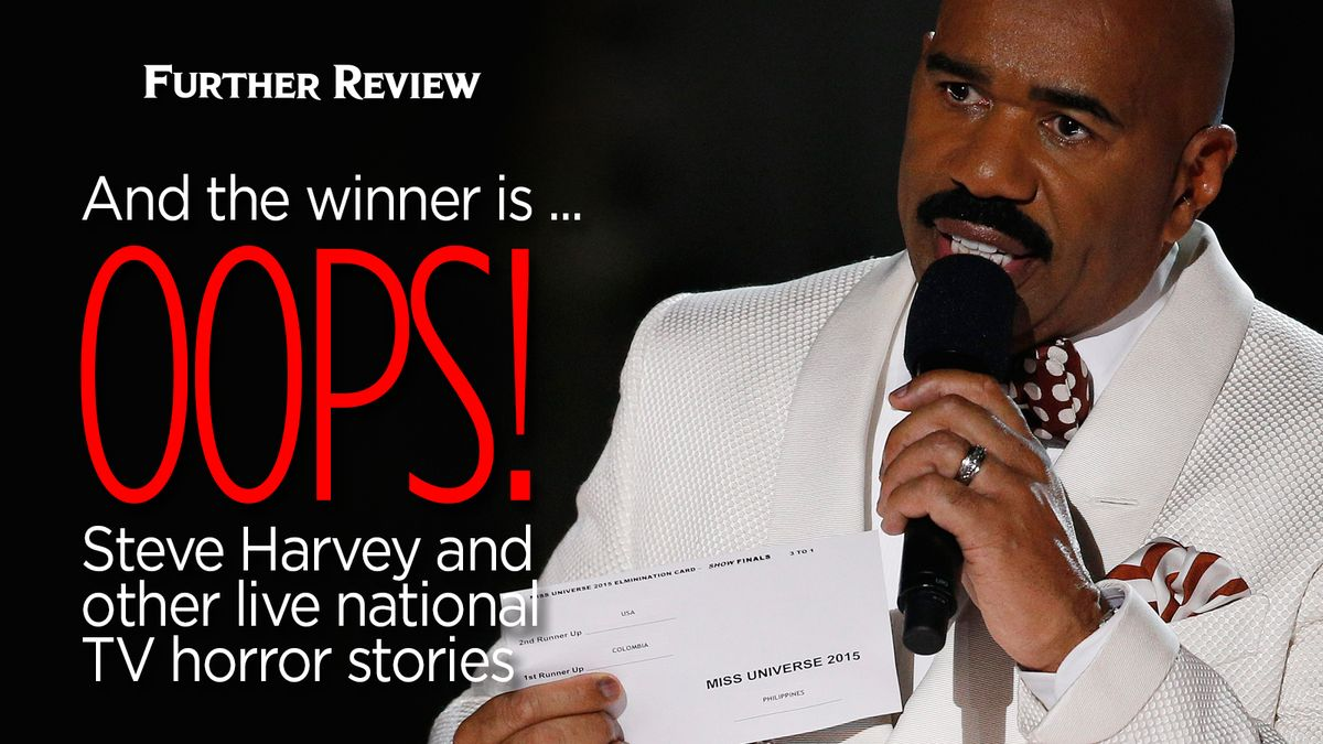 And the winner is  oops! Steve Harvey and other live