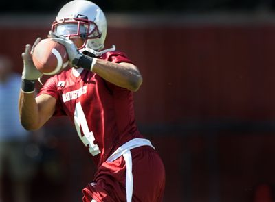 WSU receiver Brandon Gibson hopes to catch on with the Philadelphia Eagles.  (File / The Spokesman-Review)