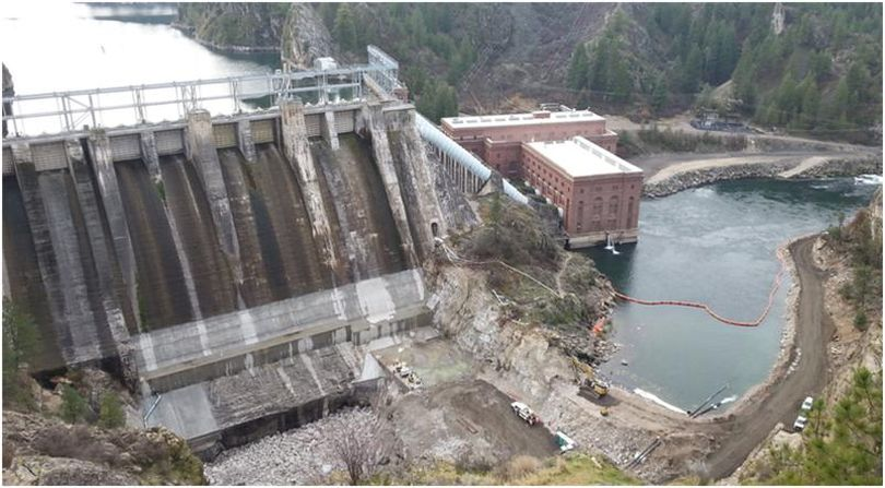 Construction at Long Lake Dam has forced major changes in levels of Lake Spokane in 2016. (Avista)