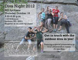 REI Diva Night poster.