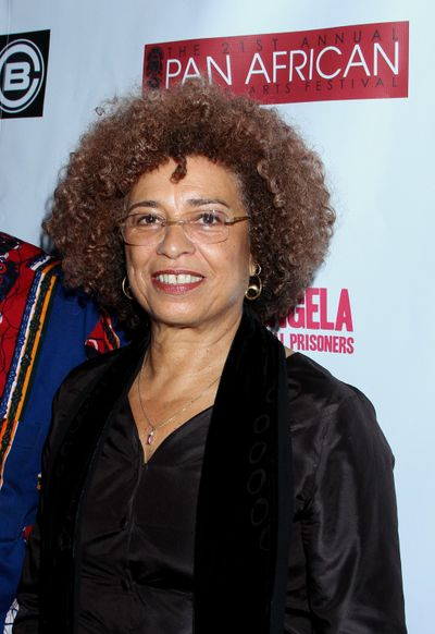 Angela Davis attends Los Angeles Premiere of Free Angela and All Political Prisoners at Pan African Film Festival at Rave Cinemas Baldwin Hills on Sunday, Feb. 17, 2013 in Los Angeles, California. (Arnold Turner / Arnold Turner/Invision/AP)