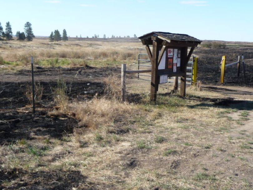 The 350-acre fire on BLM land  near Fishtrap Lake Resort in 2012  burned up to the Farmer Landing trailhead west of Fishtrap Lake.  Another blaze, the Watermelon Hill Fire, burned even more of the area in 2014.