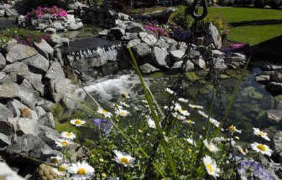 Dan and Lezlee Mattison's garden in Hayden will be on display during the Coeur d'Alene Garden Club's annual Garden Tour.  (photos by Kathy Plonka/ / The Spokesman-Review)