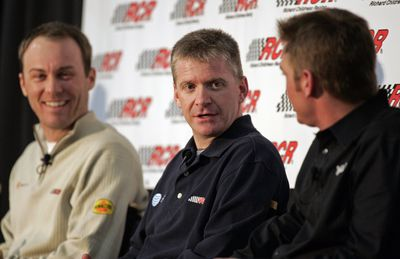 Childress Racing drivers, from left, Kevin Harvick, Jeff Burton, and Clint Bowyer are intent on contending for the Sprint Cup championship.  (File Associated Press / The Spokesman-Review)