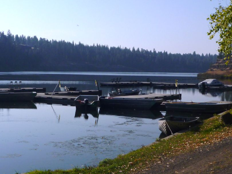 Water temperatures at Fishtrap Lake have been too high for good fishing in August and September, 2012. (Rich Landers)