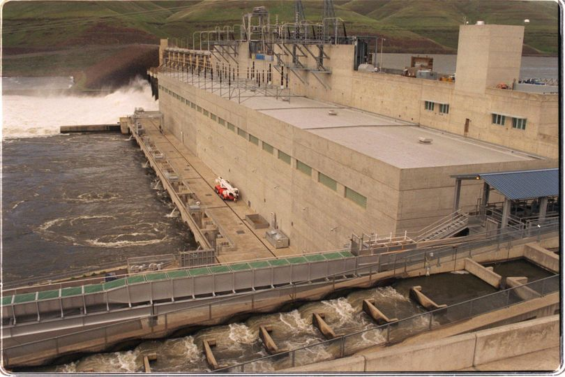 Little Goose Dam 25 miles north of Dayton, Washington, on the Snake River. (File / The Spokesman-Review)