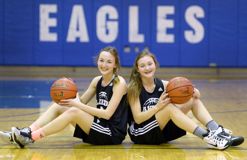Junior guard Shaye Swannack, left, and her freshman sister Sienna combined to average 15 points per game for the 22-1 Lakeside Eagles. (Colin Mulvany)