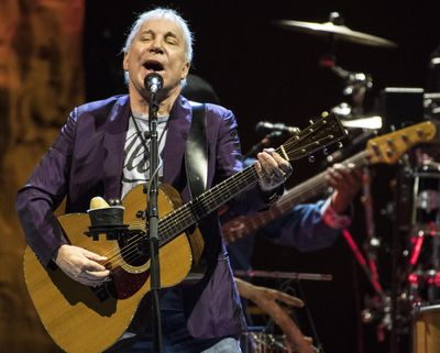 """Paul Simon hits all the right notes as he sings """"50 Ways to Leave Your Lover"""" at the Spokane Veterans Memorial Arena on June 23, 2017. The legendary singer has announced his upcoming tour will be his last. (Dan Pelle / The Spokesman-Review)"""